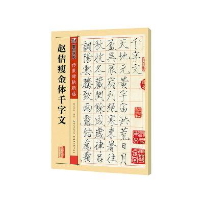 墨点字帖 传世碑帖精选赵佶瘦金体千字文