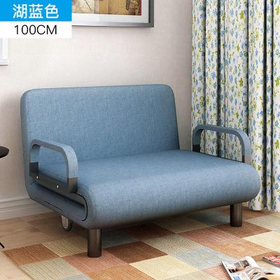 明思鑫德小户型客厅简约现代懒人多功能可折叠单人双人三人沙发布艺沙发床贵妃躺椅