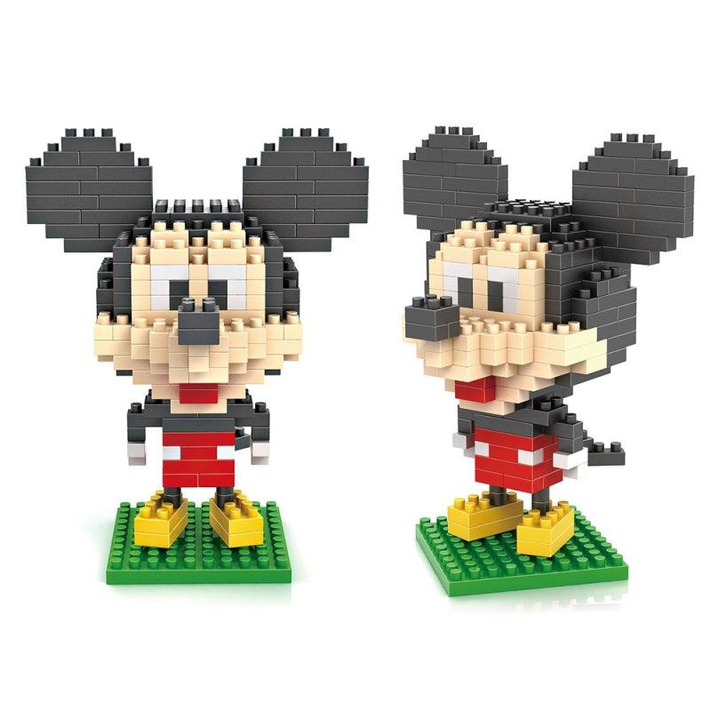 loz新款小颗粒拼装玩具 乐高积木米奇老鼠微钻颗粒积木 迪士尼经典
