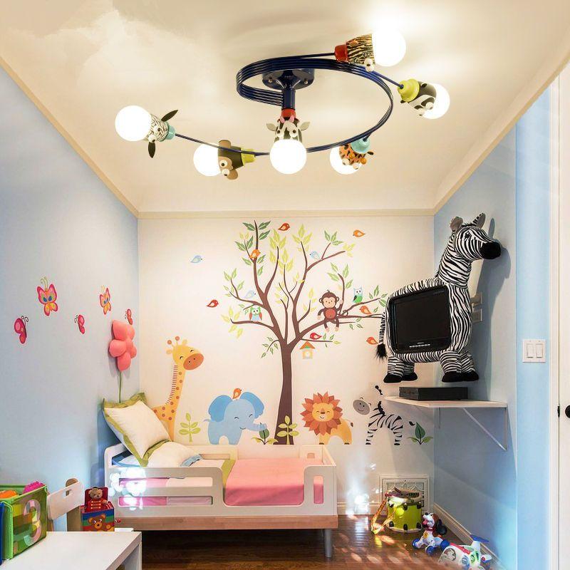 led卡通儿童房灯卧室吸顶灯男孩女孩温馨个性幼儿园创意儿童灯具