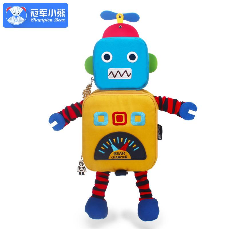 娉语小童背包1-3岁可爱幼儿园书包机器人婴儿童书包男