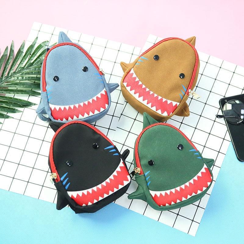 封后韩版时尚可爱小鲨鱼背包男女迷你百搭双肩包大儿童胸包女孩零钱包