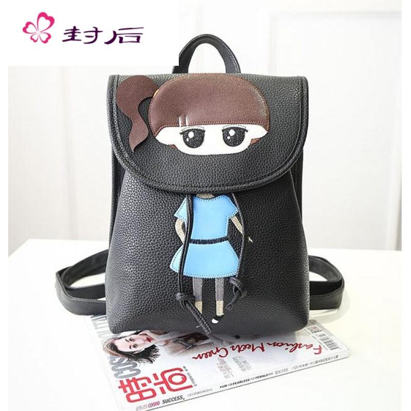 封后女童双肩包韩版可爱猫咪卡通背包儿童时尚休闲1-3年级小学生书包