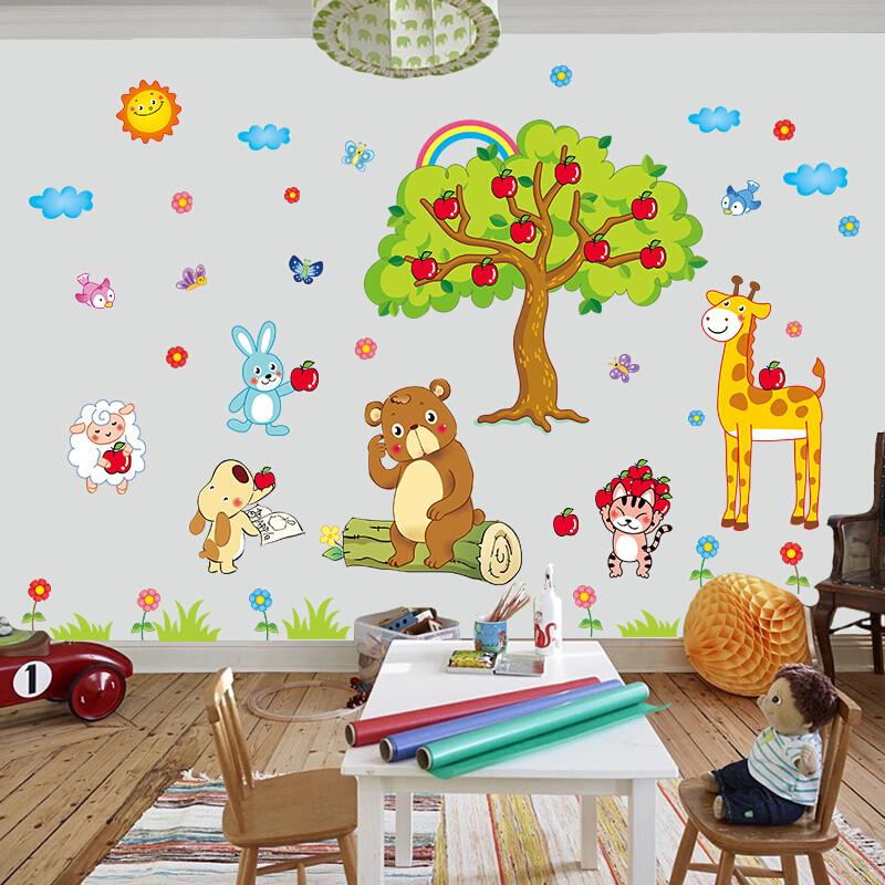 宜佳蕙yjh幼儿园墙壁上装饰墙纸贴画宝宝卧室儿童房间