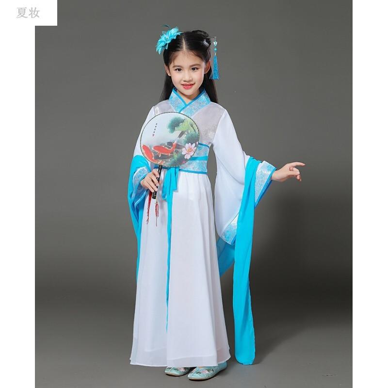 夏妝 新款兒童古裝七仙女服裝女童唐裝漢服貴妃公主裙
