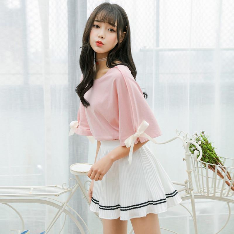 828新款少女连衣裙两件套夏2017新款学生甜美软妹学院风可爱闺蜜套装