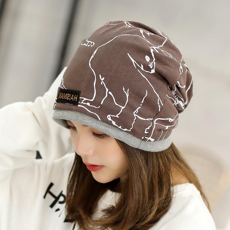 828新款韩版女头巾帽子时尚包头帽双层孕妇帽月子帽春秋天多用围脖帽