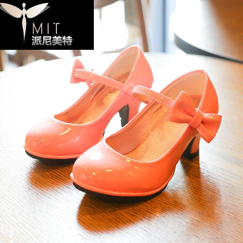 2017春秋新款女童皮鞋儿童高跟鞋小女孩中大童韩版包头公主鞋