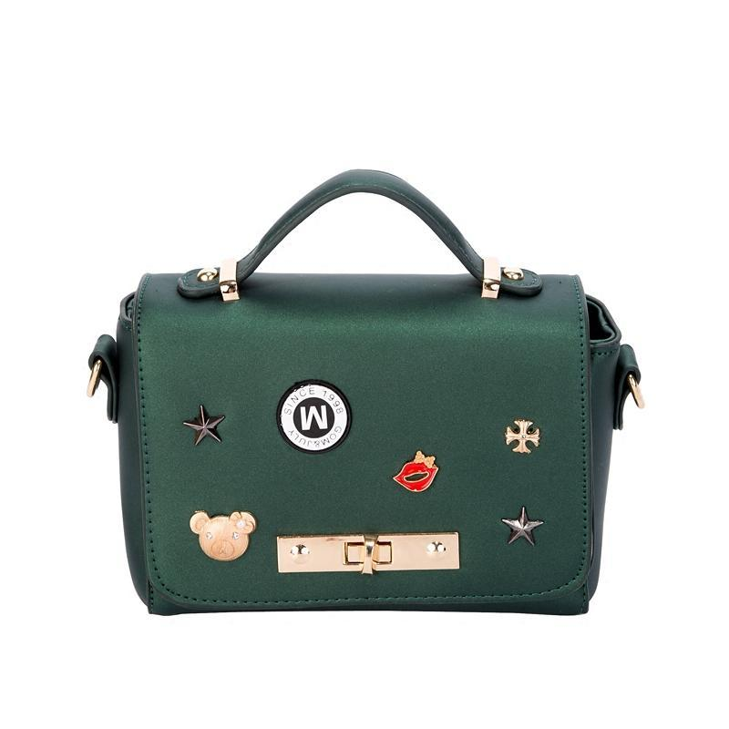 尚恩麦品牌包包2017韩版潮新款女包手提包锁扣百搭单肩斜挎包小包链条