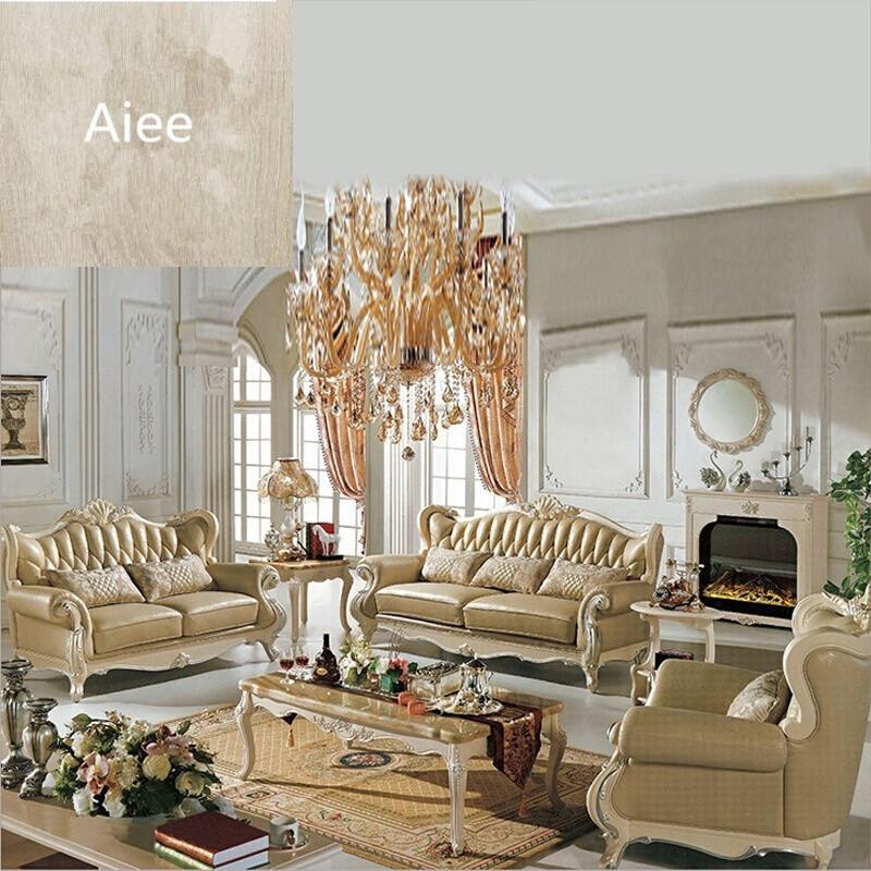 aiee欧式皮艺沙发实木沙发组合法式大户型客厅沙发 1