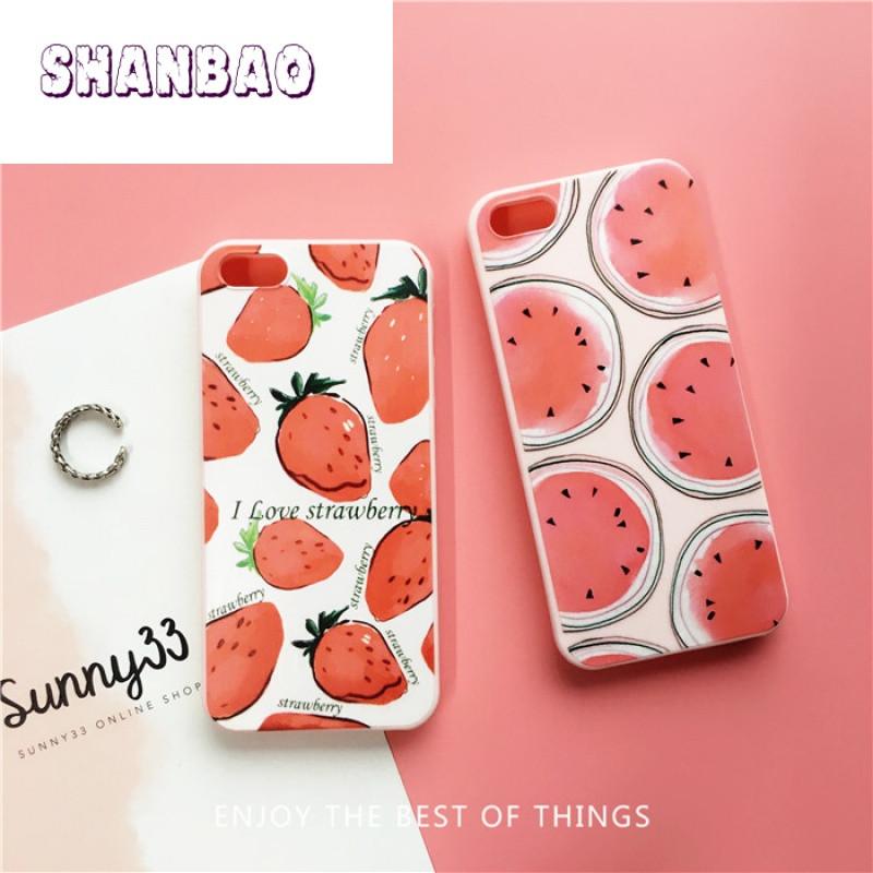bao水果草莓西瓜 苹果5s手机壳iphone5新款se保护套4s软壳防摔5s硅胶