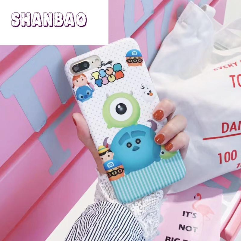 shanbao卡通q版米奇米妮iphone6s手机壳苹果7plus可爱