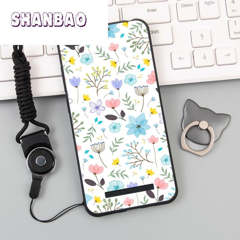 shanbao小米4c手机壳女款4c全包可爱卡通保护套防摔男女款软防摔挂绳