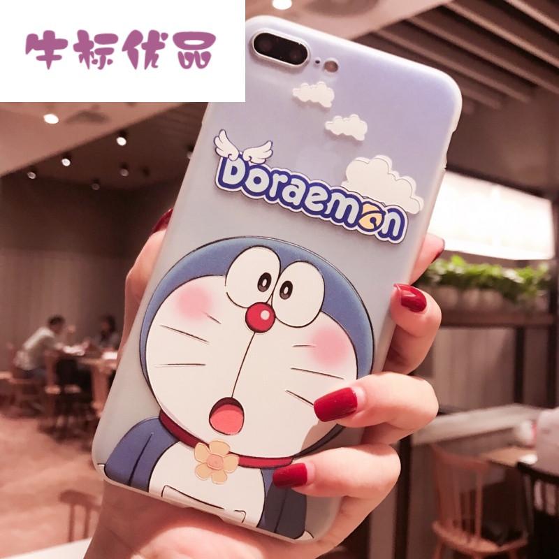 牛标优品浮雕卡通机器猫苹果6手机壳iphone7/6p全包软
