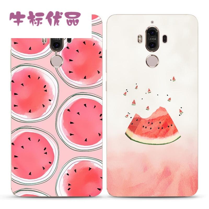 牛标优品夏日创意西瓜华为mate7 8 s mate9pro手机壳可爱小清新硅胶软
