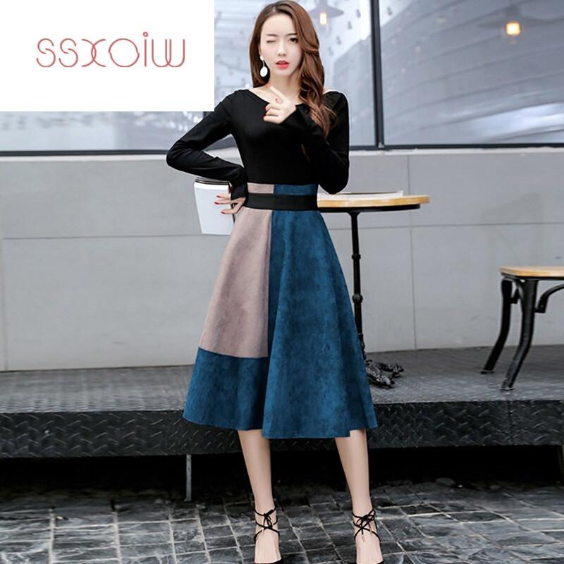 女士连衣裙韩版中长款
