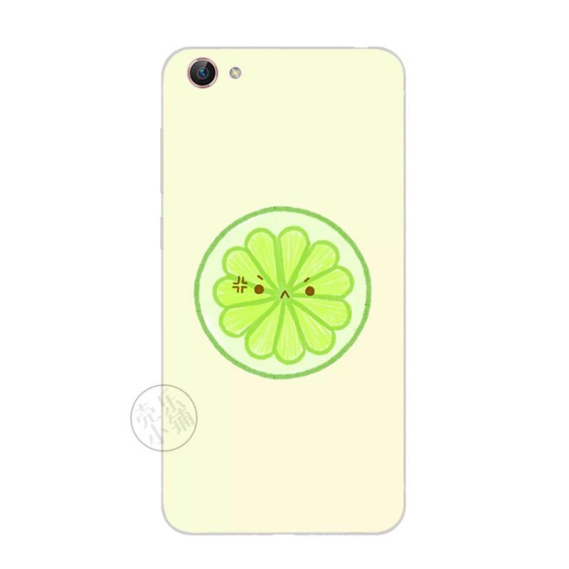 2017款步步高vivox7手机软壳超薄硅胶保护套夏日清新水果柠檬片西瓜简
