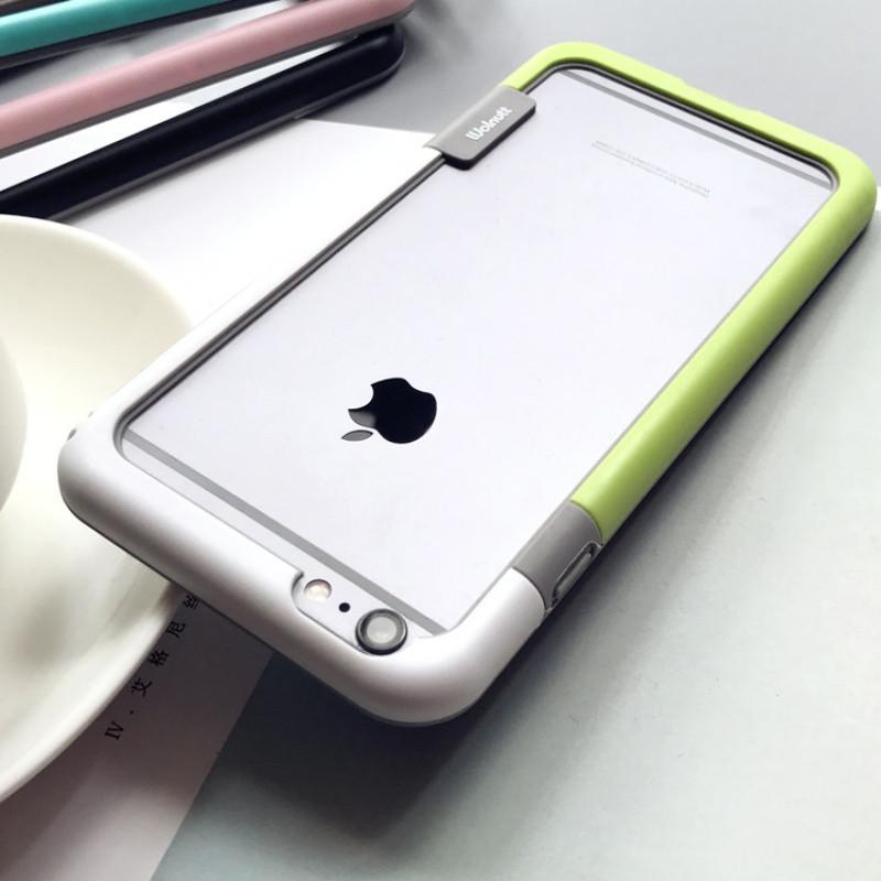 拼色边框iphone8手机壳苹果7plus防摔10保护框6s硅胶软x简约韩6sp