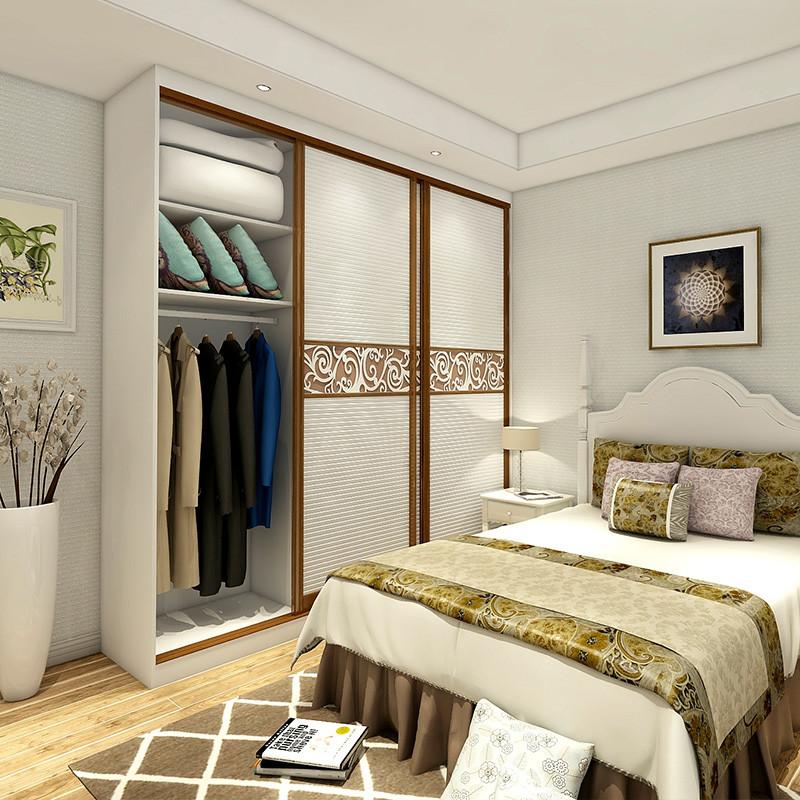 博郡定制衣柜 现代简欧塑形带腰线条纹卧室柜子订制女人的衣橱收纳柜