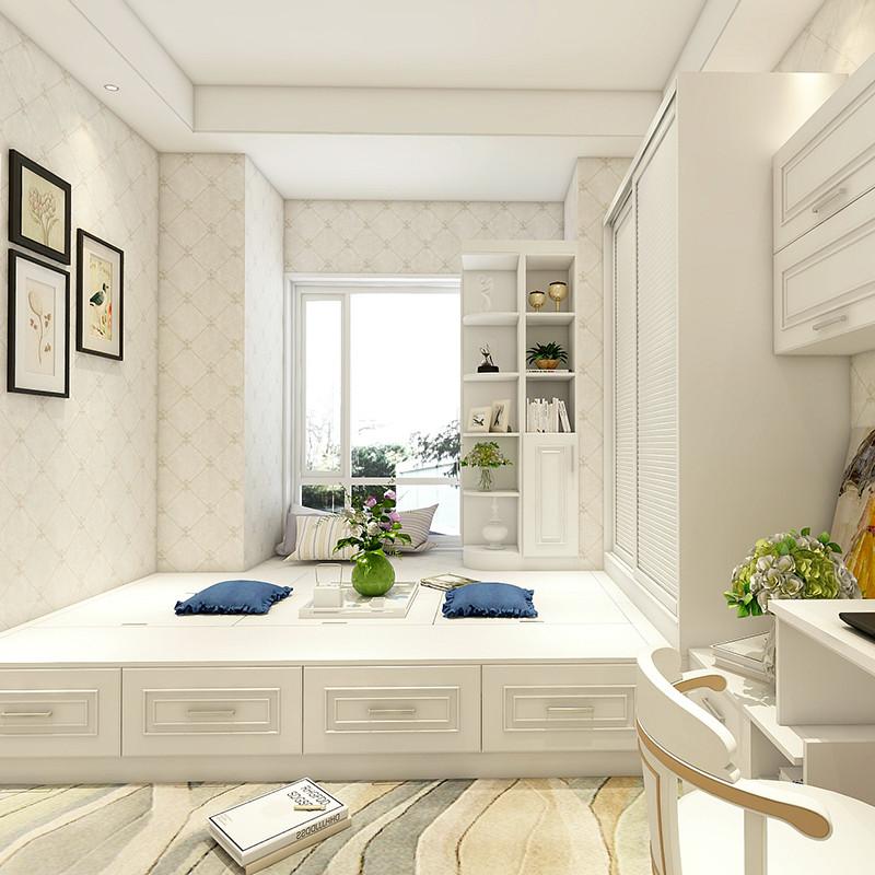 博郡全屋定制家具 时尚大空间定制卧室整体衣帽间设计榻榻米床加衣柜