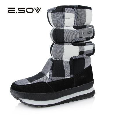 艾索維(E.SOV)冬季保暖透氣雪地鞋短靴女