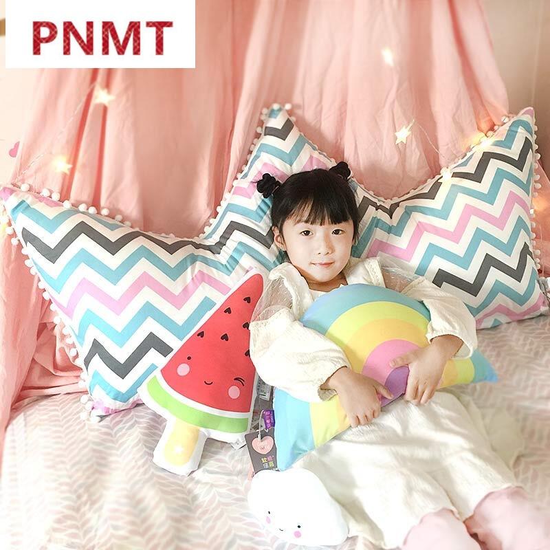 pnmt抱枕床头靠枕可爱单人公主床大靠背卡通全棉床上靠垫儿童