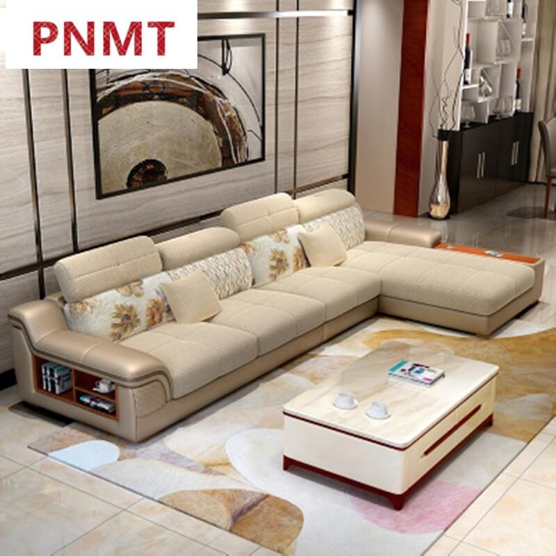 pnmt布艺沙发冬夏两用免洗沙发大户型简约现代客厅转角客厅沙发整装