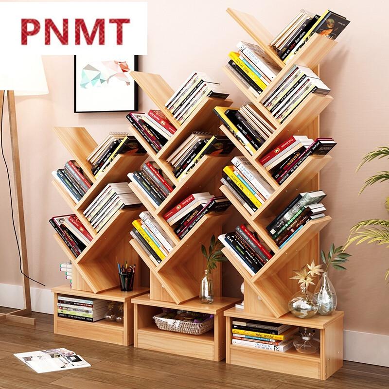 办公室迷你树形书架隔断置物架放书的架子格架简易落地经济型书柜xx图片
