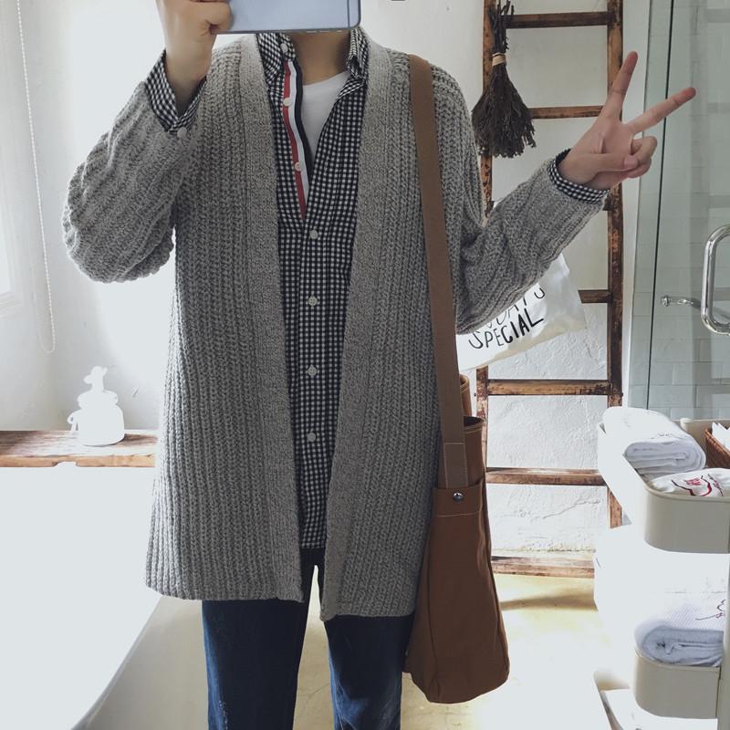 宽松针织衫开衫