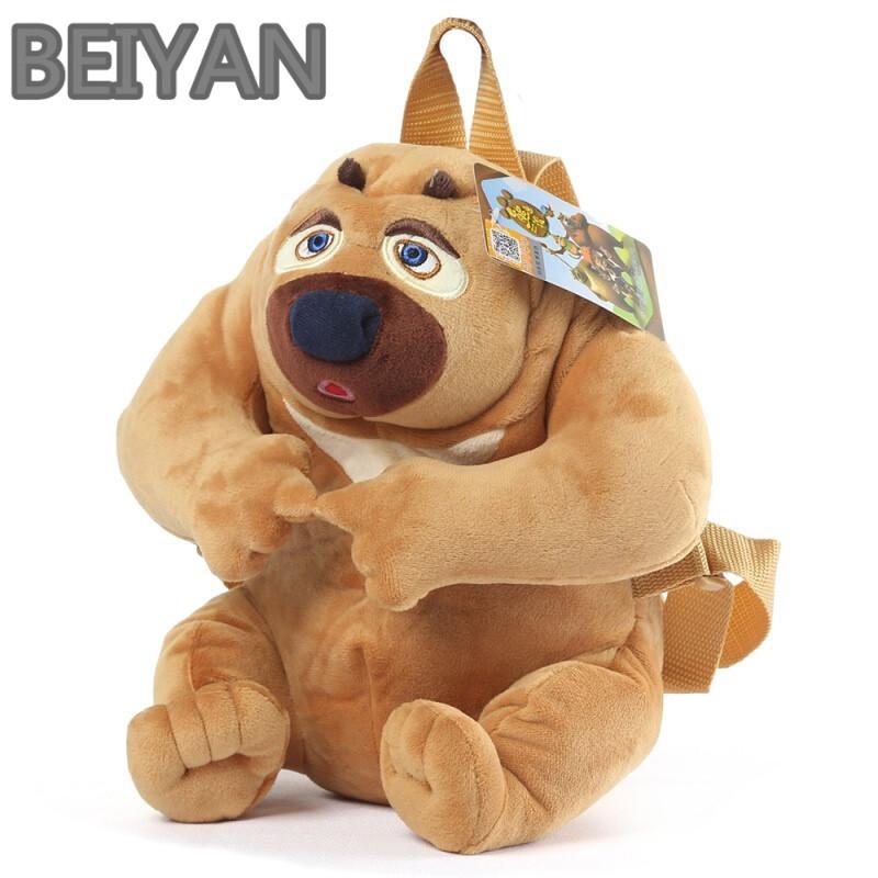 beiyan熊出没儿童书包可爱卡通男女童幼儿园小班宝宝双肩背包熊大熊二