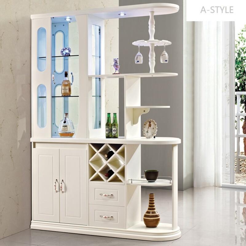 a-style欧式田园风格客厅双面隔断玄关门厅柜斗柜酒柜