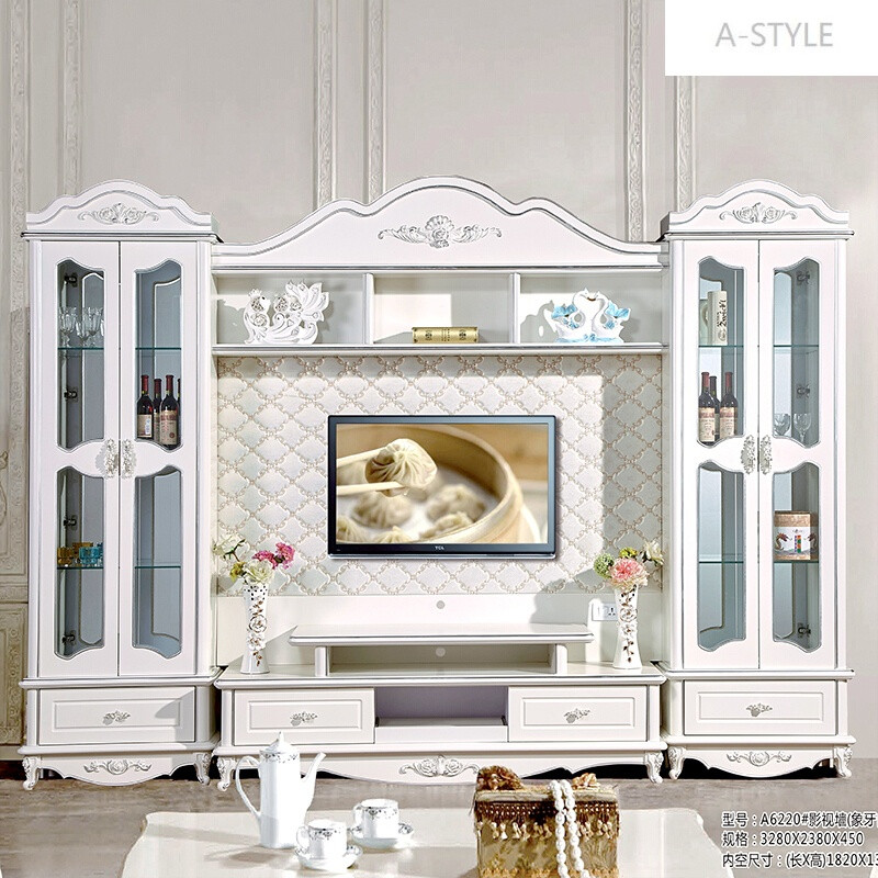 a-style包安装欧式烤漆电视柜组合电视墙柜客厅柜酒柜