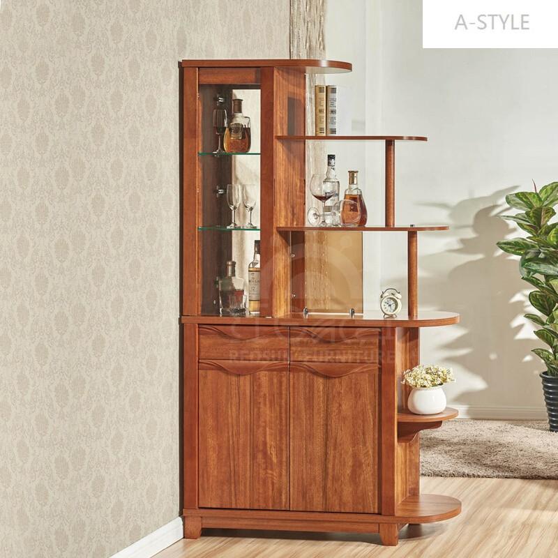 a-style隔断柜酒柜双面美式乡村实木色鞋柜组合客厅门厅玄关柜间厅柜6图片
