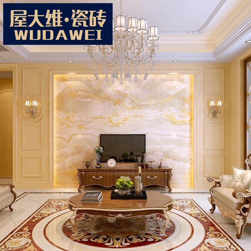 屋大维 瓷砖背景墙大理石欧式石材罗马柱微晶石电视背景墙护墙板图片
