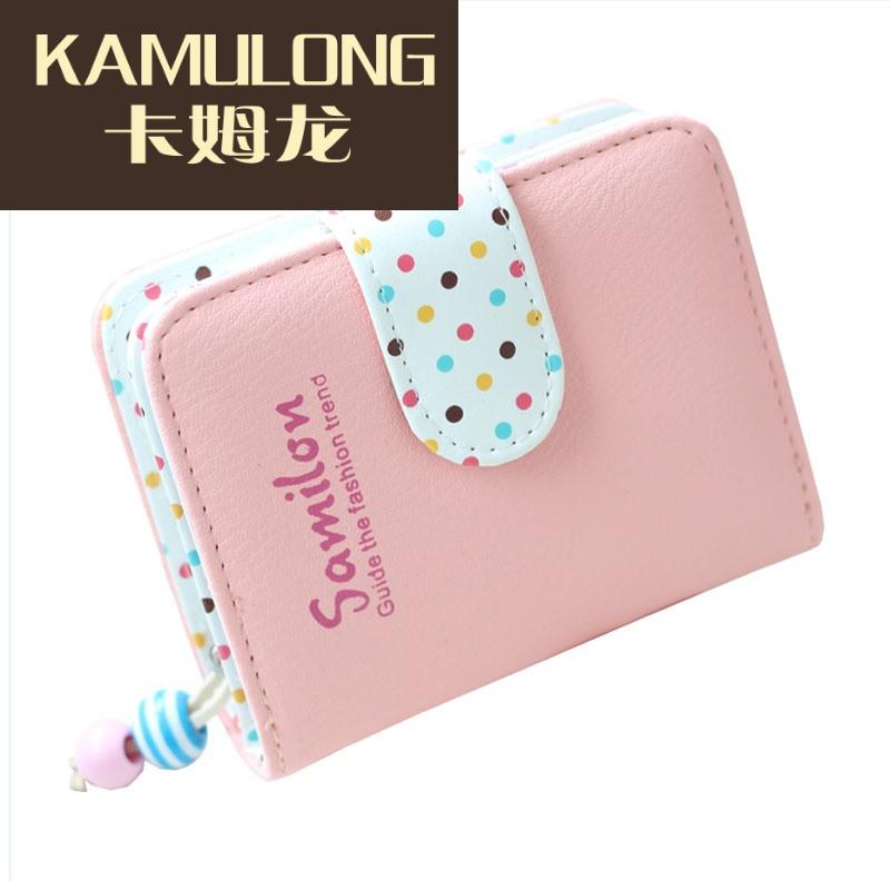 kamulong女童零钱包儿童公主钱包手拿卡通可爱小学生钱夹韩版长款卡包