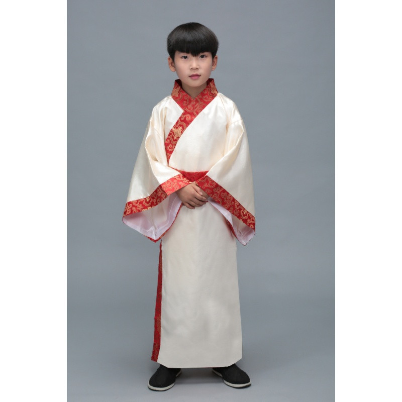新款儿童古装汉服国学小学生演出服三字经弟子规男女书童表演服装