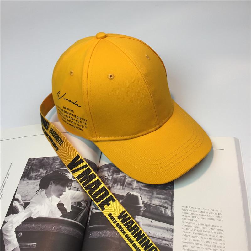 902新款中国有嘻哈帽子长带子弯沿帽街头潮牌鸭舌帽你