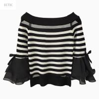 ECTIC女士T恤和2017冬季加绒高领打底衫女长