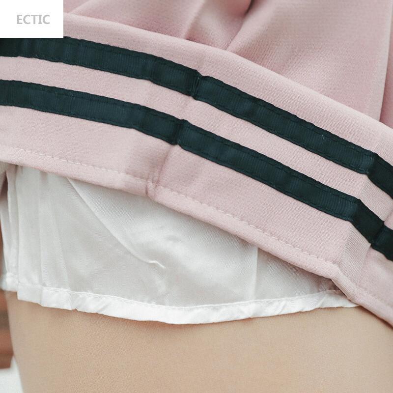 ectic可爱套装裙子00后少女甜美夏日系小清新韩版两件套学生软妹