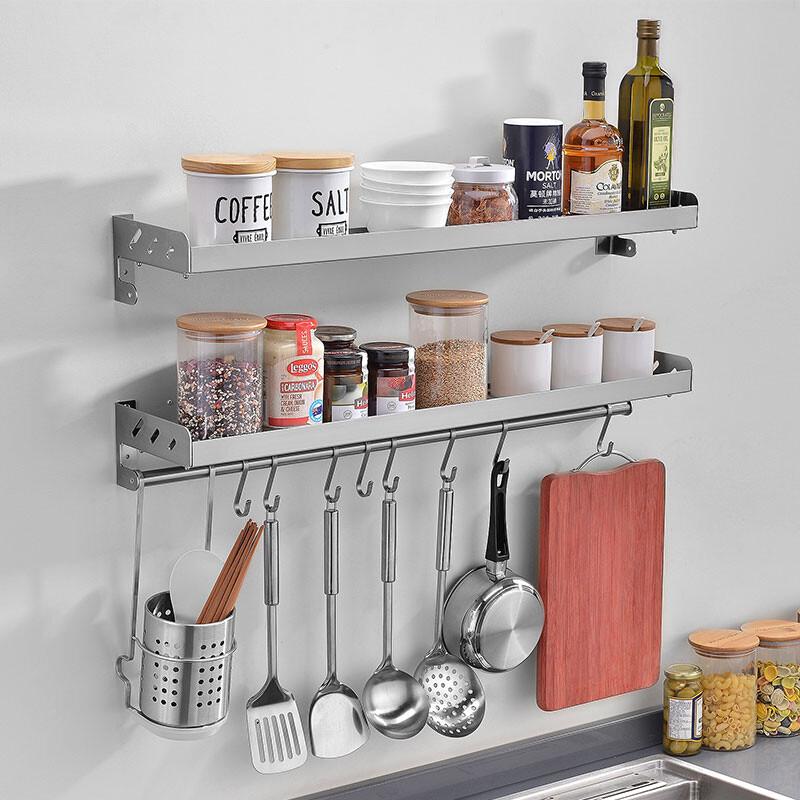 doxa厨房置物架壁挂墙上304不锈钢调味料用品厨具收纳图片