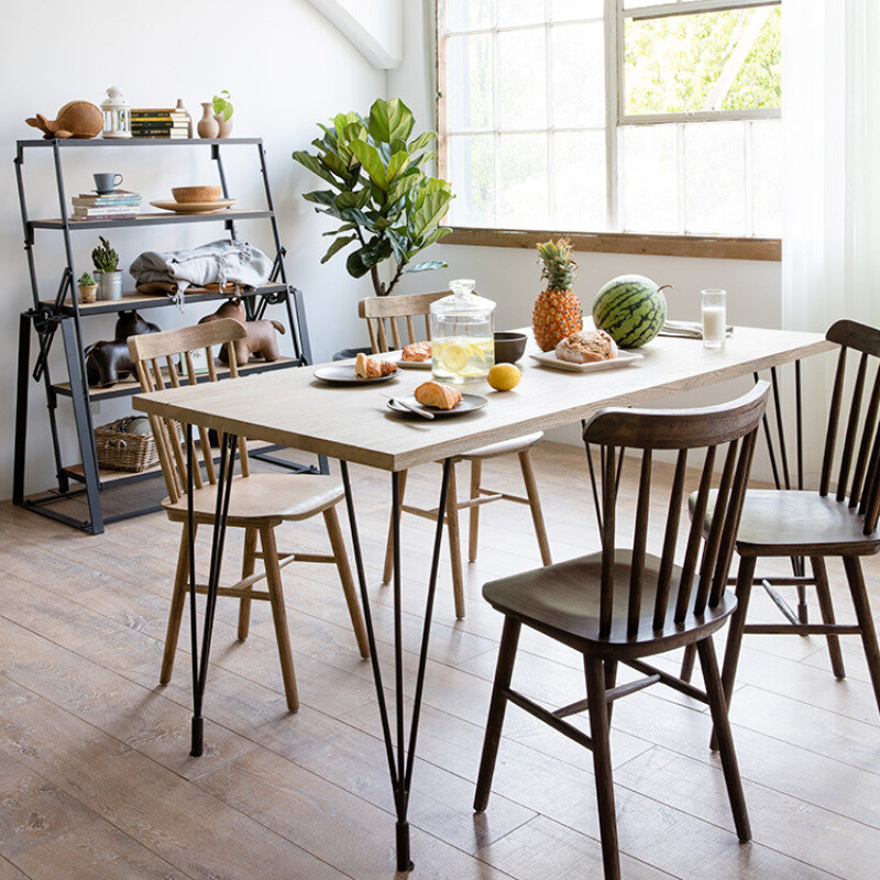 doxaloft美式实木餐桌简约现代小户型个性办公桌原木会议桌椅组合