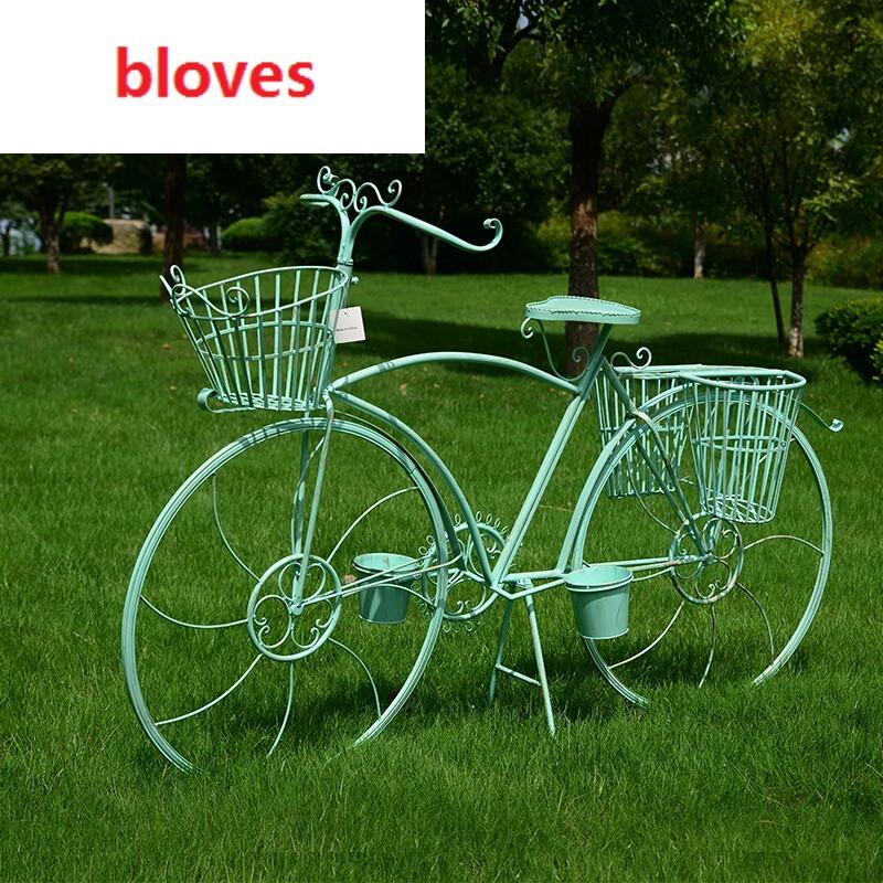 bloves-创意欧式铁艺多层大自行车花架子婚庆道具橱窗图片