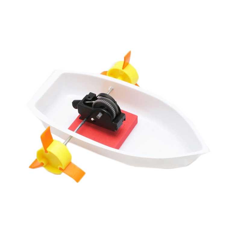 home toys 21731科技小制作幼儿园科学实验玩具材料小发明材料明轮船