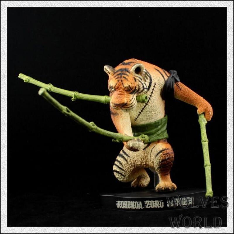 创意手办动漫公仔手办 海贼王15周年纪念版系列 动物造型 索隆 老虎
