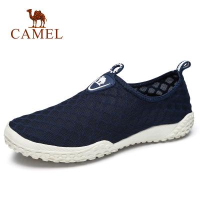 Camel骆驼 2018春季新品户外休闲速干溯溪鞋徒步休闲套脚网布鞋男