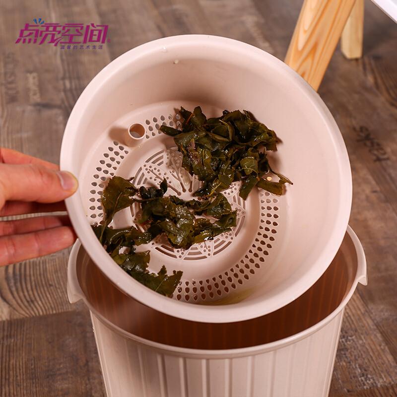 爱舒贝办公室泡茶垃圾桶倒茶叶茶桶废水茶渣桶茶叶渣过滤垃圾筒排水桶