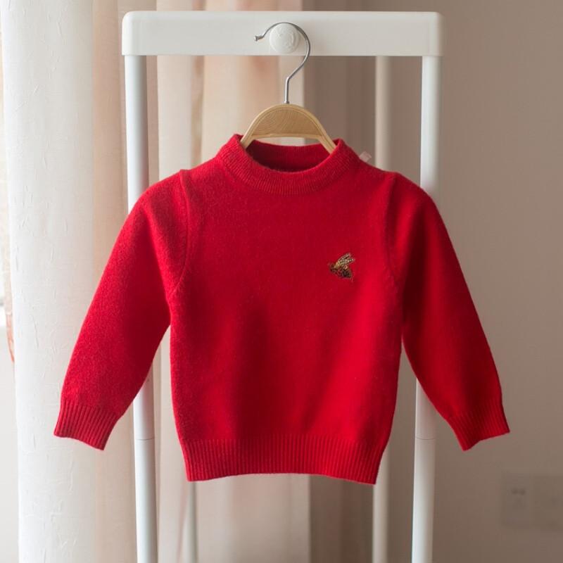 宝宝毛衣女春秋冬编织0-1-2-3岁4男童婴儿打底针织衫儿童衣服套头