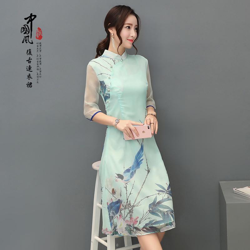 短袖连衣裙夏女韩版中长款