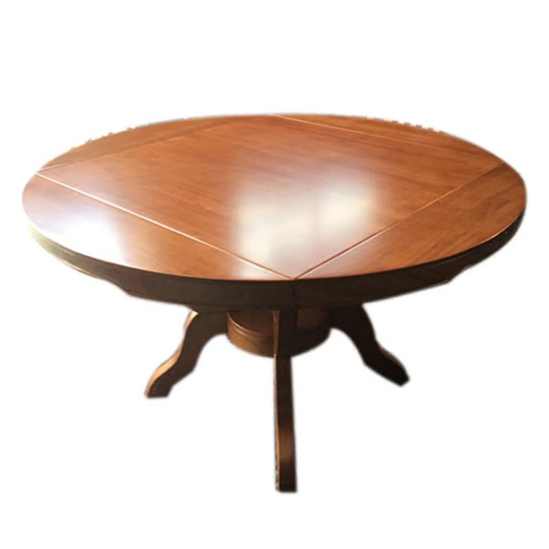 现代全实木高档餐桌椅组合可伸缩折叠家用大饭桌12人圆桌变四方桌
