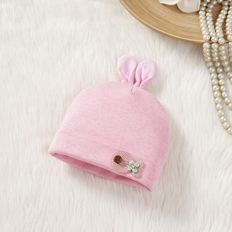 新款婴儿彩棉帽子宝宝秋冬初生纯棉新生儿刚出生满月帽0-3个6月胎帽春
